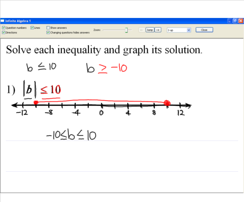 how to solve and graph inequalities with absolute value