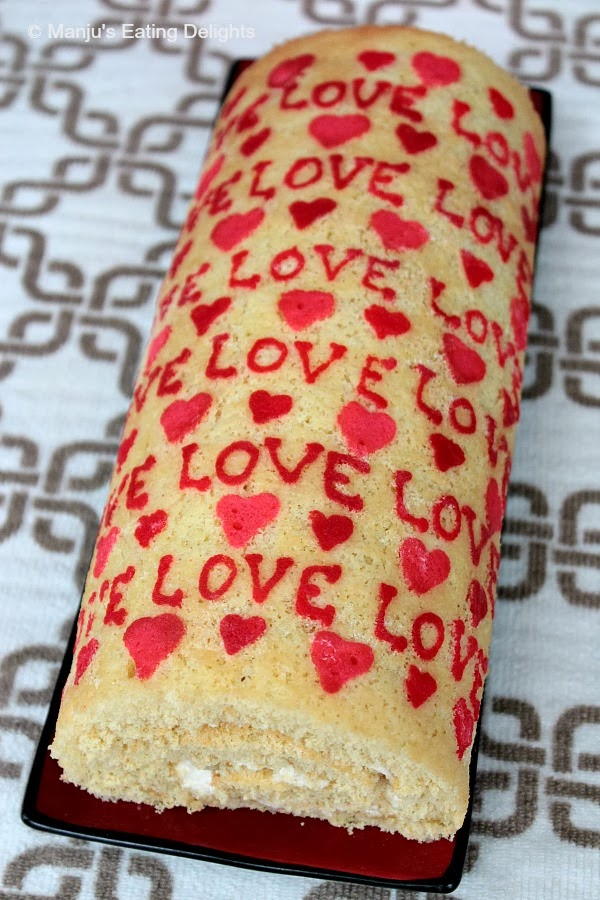 manju s eating delights patterned swiss roll with pineapple and