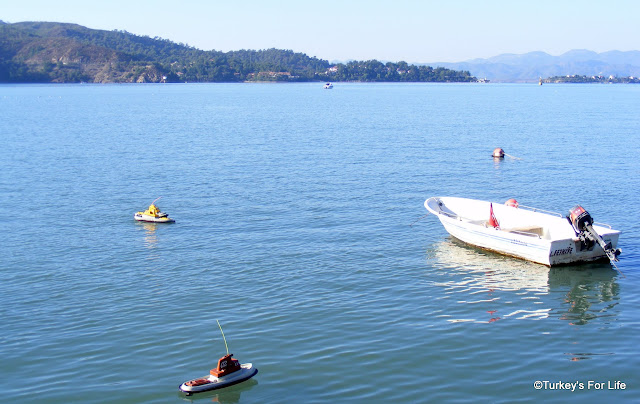 Remote Control Boats On Fethiye Harbour