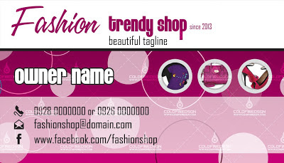 Fashion Business Card front