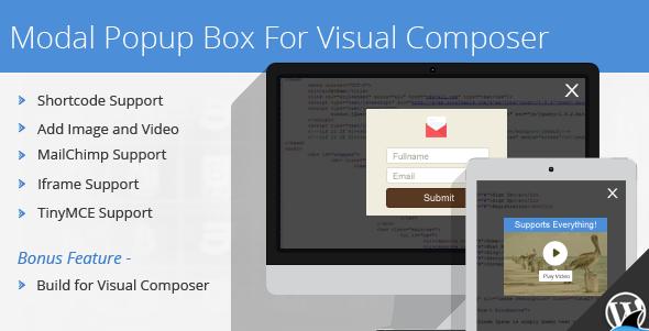 Modal Popup Box v1.4.3 Visual Composer