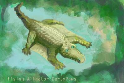 alligator flying