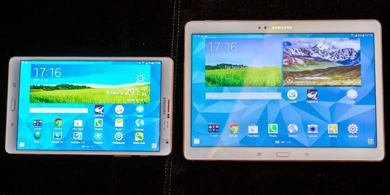 Galaxy Tab S versi 8,4 inci dan 10,5 inci