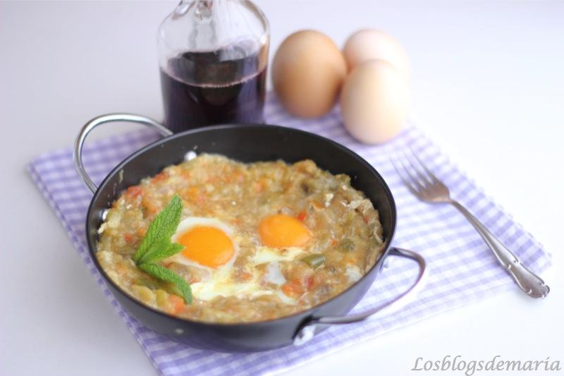 Berenjenas con huevo