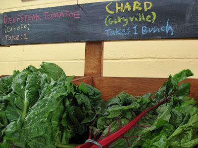 Swiss chard:  Hollygrove Market & Farm, NOLA