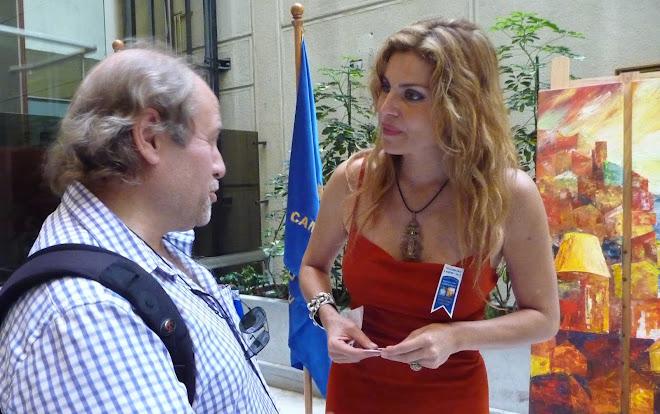 """Rencontre lors de l' Exposition """"Capricornio""""  à la Chambre des Députés - Valparaiso"""