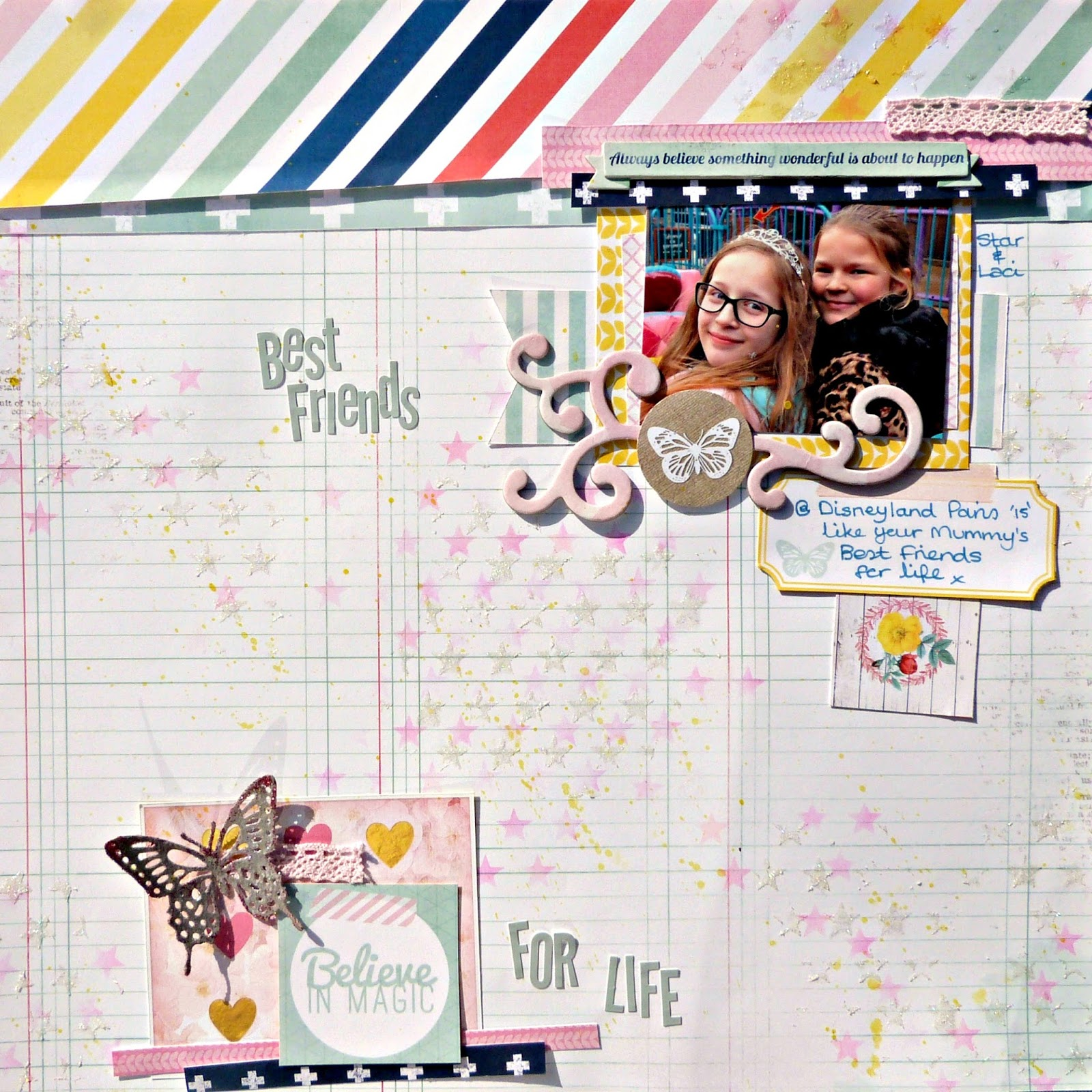 best friends scrapbook layout Tracee Provis Bo Bunny Sweet Life 01
