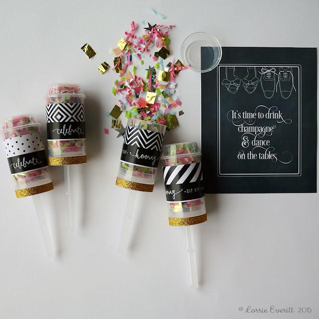 diy confetti poppers | Lorrie Everitt Studio