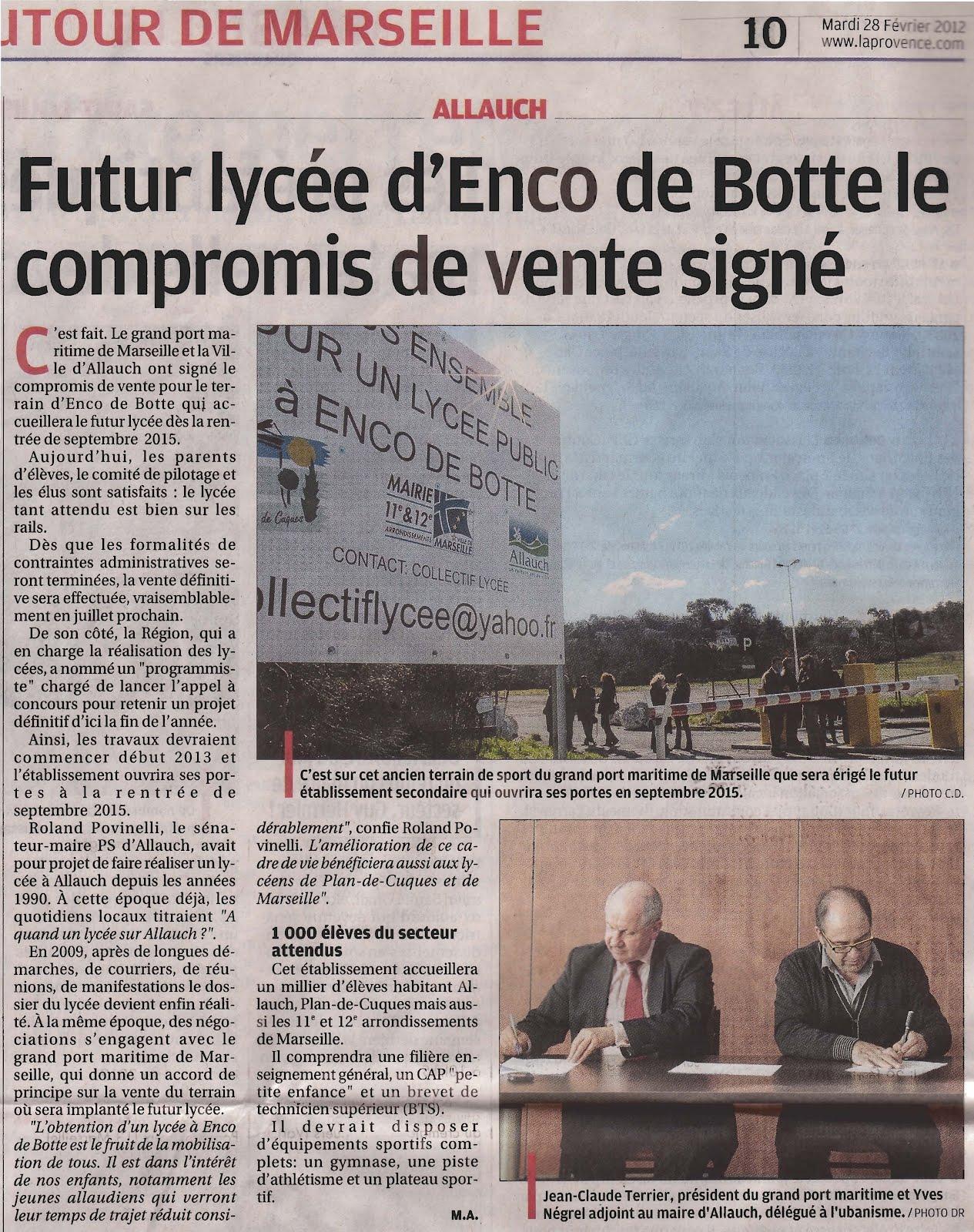 Blog officiel du collectif du lyc e enco de botte mars 2012 - Compromis de vente retractation vendeur ...