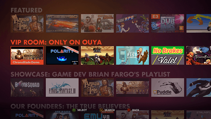 Ouya Games Marketplace
