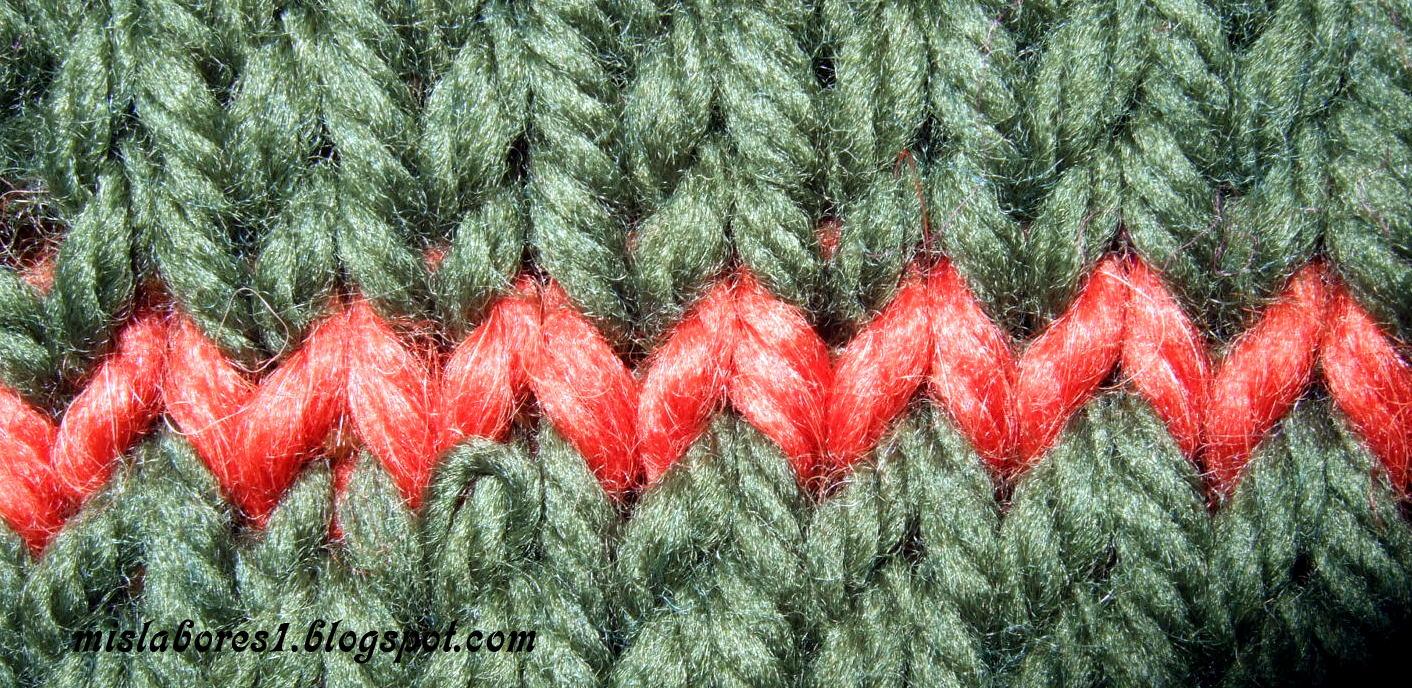 Mis labores grafting de costura invisible para unir los - Tipos puntos dos agujas ...