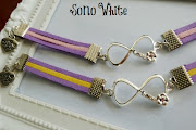 Infinity Love Bracelet. Colour: Purple Pink , Purple Yellow. Length: 16.5 cm