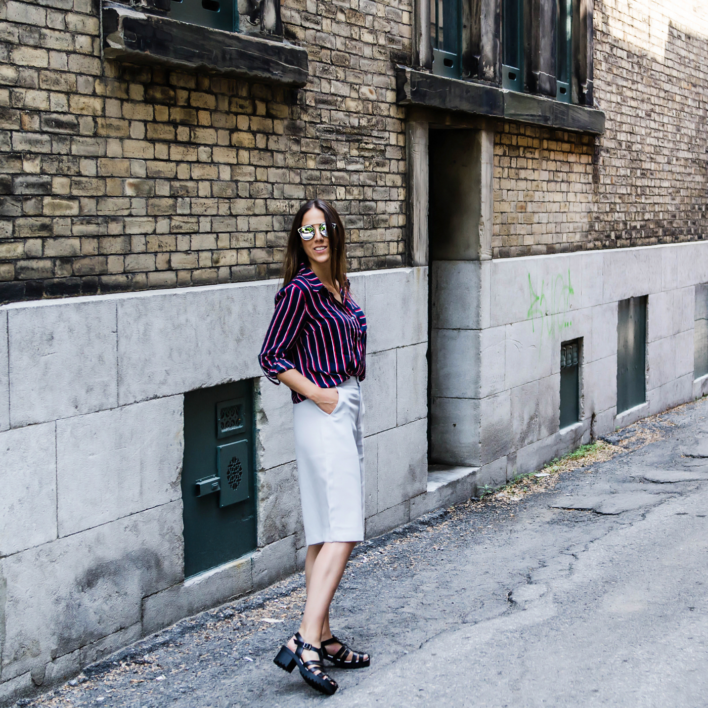 alison liaudat, blog mode suisse, swiss fashion blogger, blog suisse, blog switzerland, québec, shooting, boyish outfit, short culotte, forever21, dior so real,