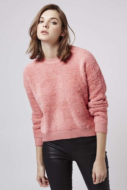 pink furry jumper, pink fluffy jumper, super soft jumper,
