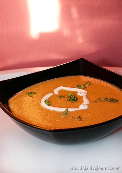 Морковно-чечевичный суп-пюре с зирой