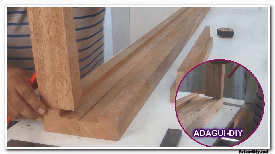 imagenes de como hacer un marco de madera para una puerta