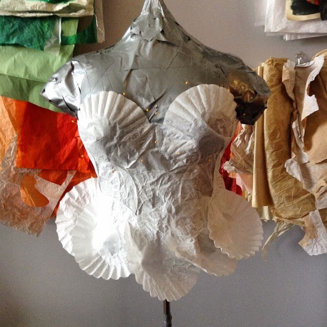 Coffee Filter Dress Design - WIP © Samantha Grenier 2015