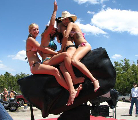 naked women on bulls