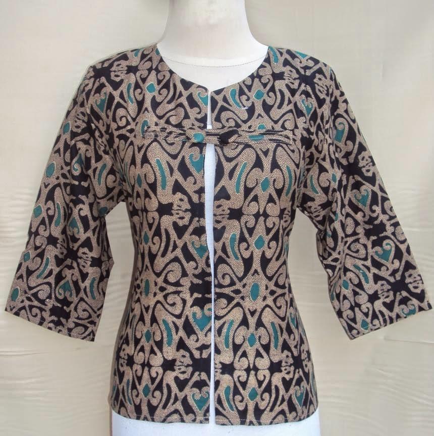 blazer-batik-motif-dayak-kancing-hitam