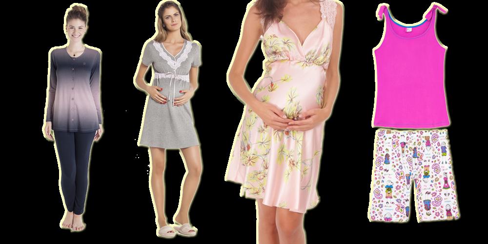 pijamas de amamentação ... blog Mamãe de Salto