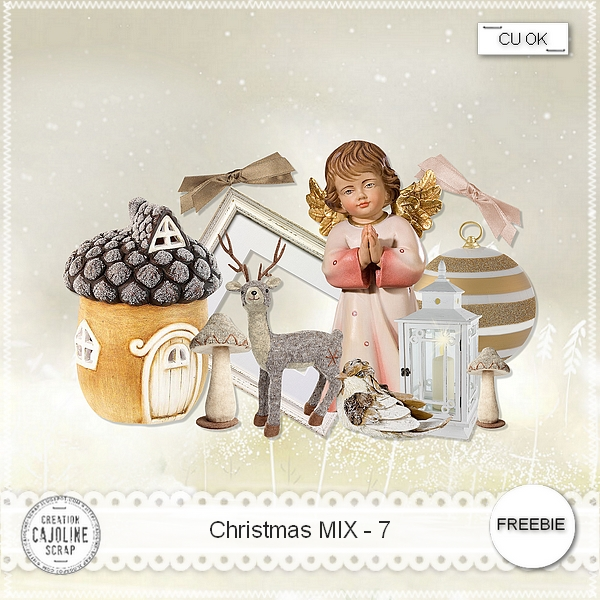 Freebie Christmas Mix 7- CU from Cajoline scrap