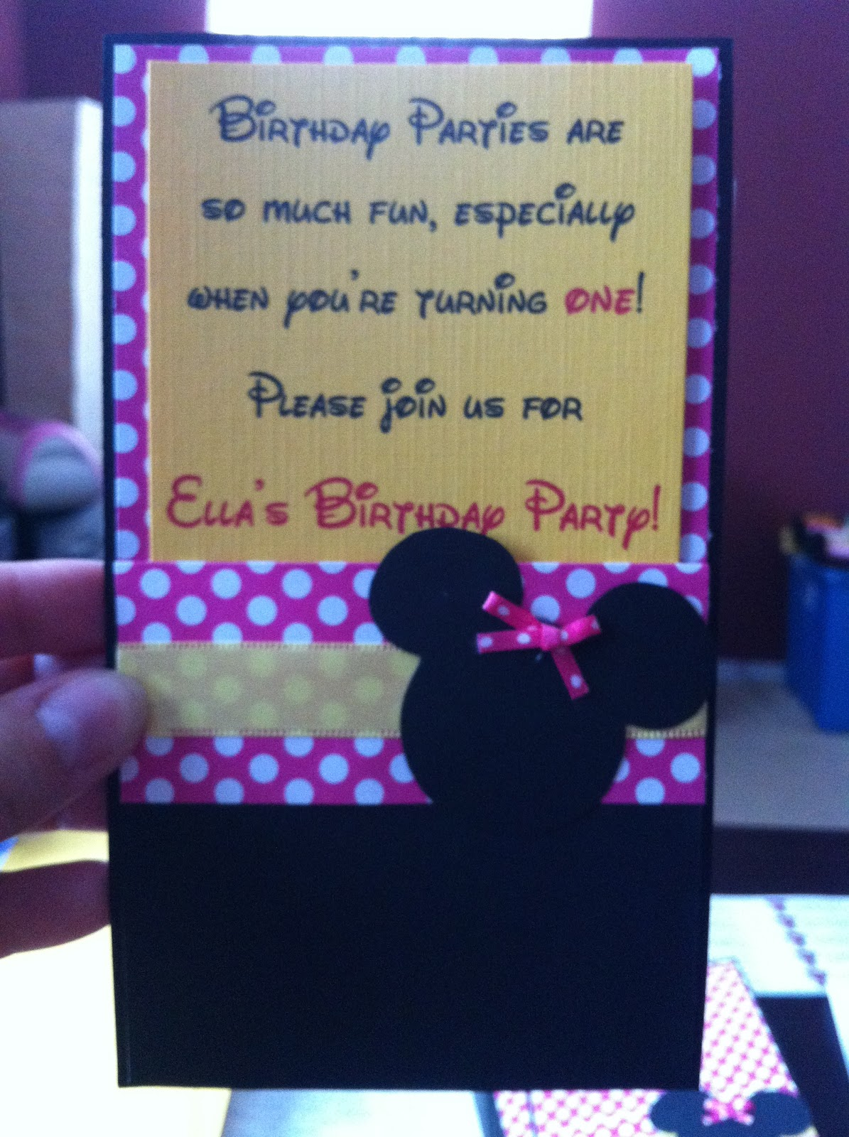 Simply Inspired: Handmade Crafts: Ella's Minnie Mouse 1st ...