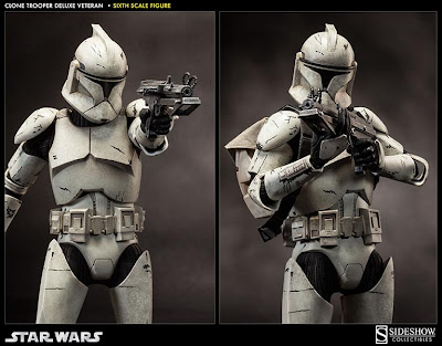 "Sideshow Collectibles 1/6 Scale Star Wars 12"" Clone Trooper ""Vetern"" Figure"