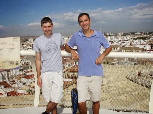 Stingj de Bélgica y yo en el mirador de las Setas de Sevilla