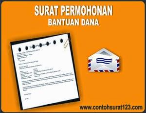 Gambar Contoh Surat Permohonan Bantuan Dana