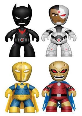 DC Universe Mini-Mez-Itz Series 2 by Mezco Toyz - Batman Beyond, Cyborg, Doctor Fate & The Demon Vinyl Figures