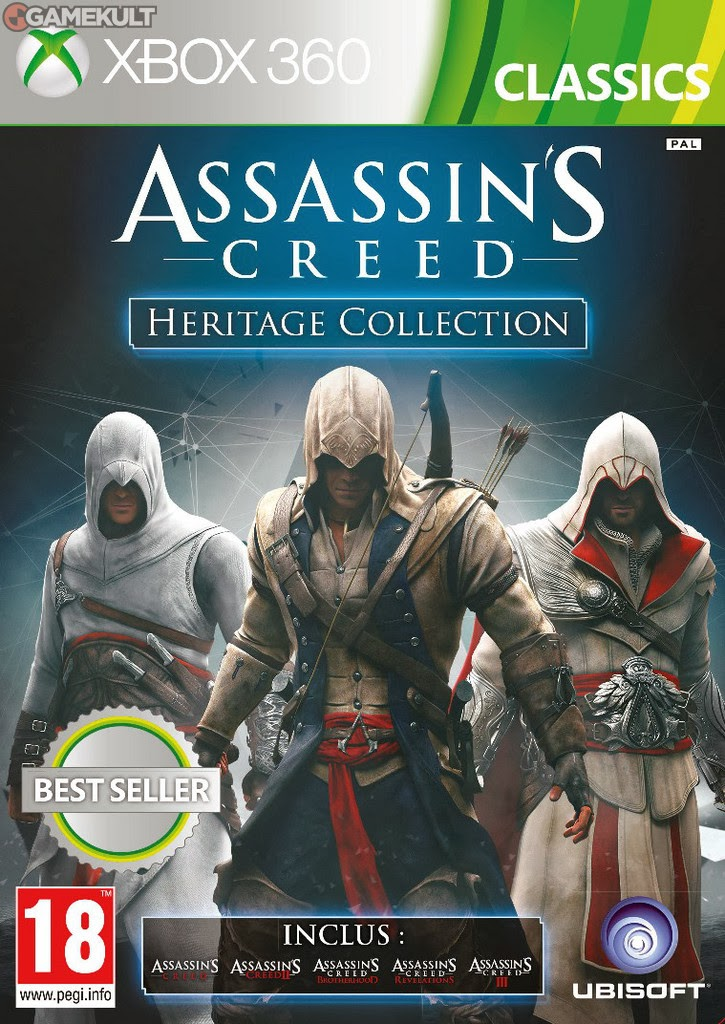 jaquette assassin's creed heritage collection xbox 360