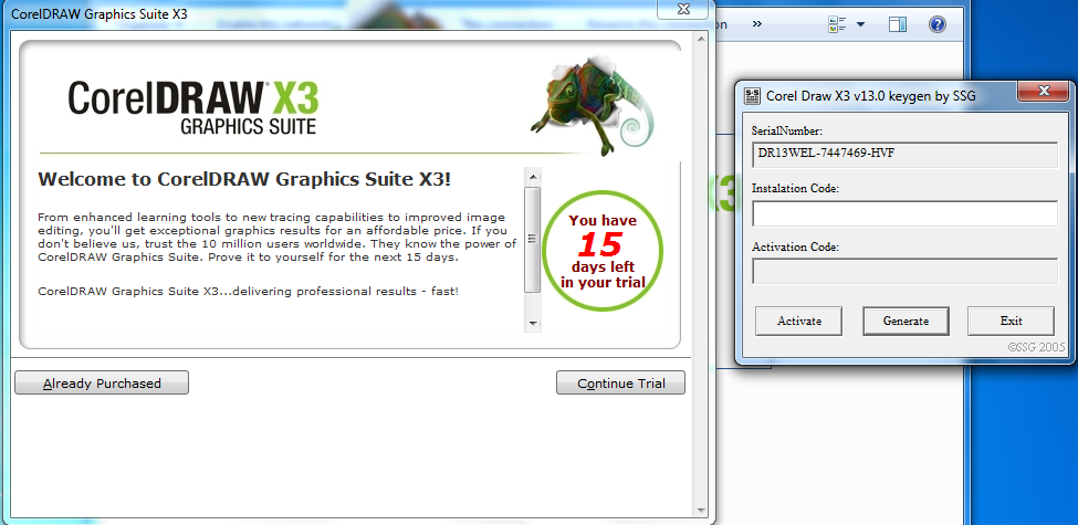 crack Corel Draw Graphics Suite X3