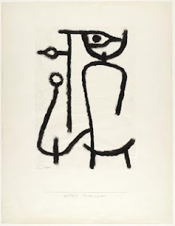 Paul Klee painting - Lady Apart