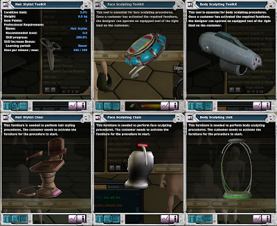 Entropia Universe - Beautician Hairstylist Tools