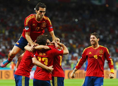 Spain Celebrating after score a Goal
