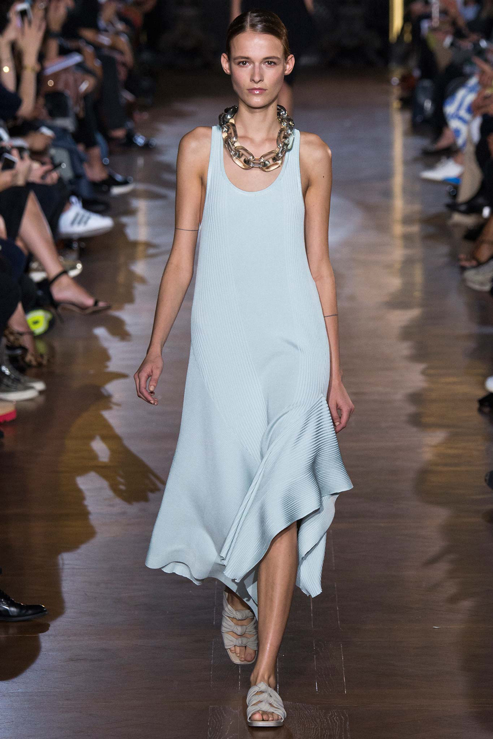 Pantone Colour Report Spring 2015 trends / aquamarine / how to wear aquamarine / outfit ideas / fashion collections S/S 2015 / Stella McCartney Spring 2015 / via fashioned by love british fashion blog