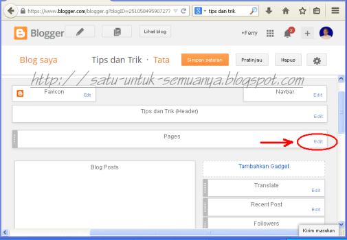 cara menyembunyikan laman pada gadget pages blog-2