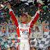 Denny Hamlin wins the Bubba Burger 250 at Richmond International Raceway