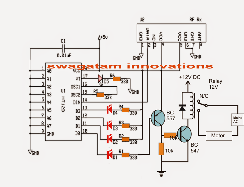 remote controlled  wireless water level controller circuit