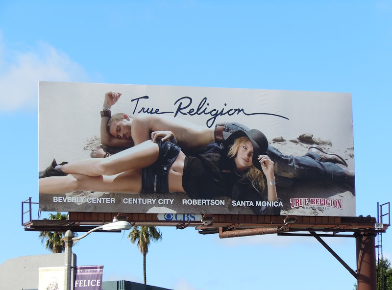 True Religion Jeans beach billboard
