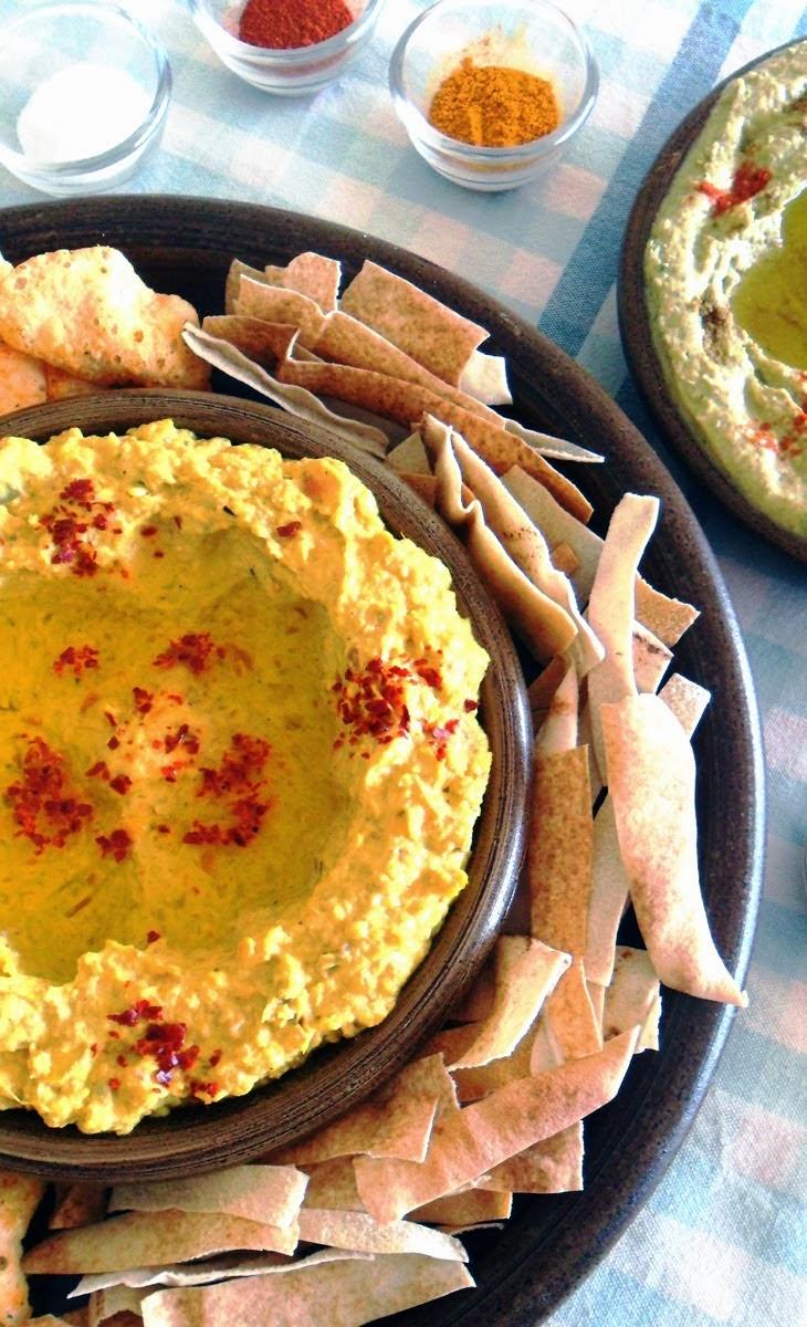 Carrot - Ginger Hummus Dip