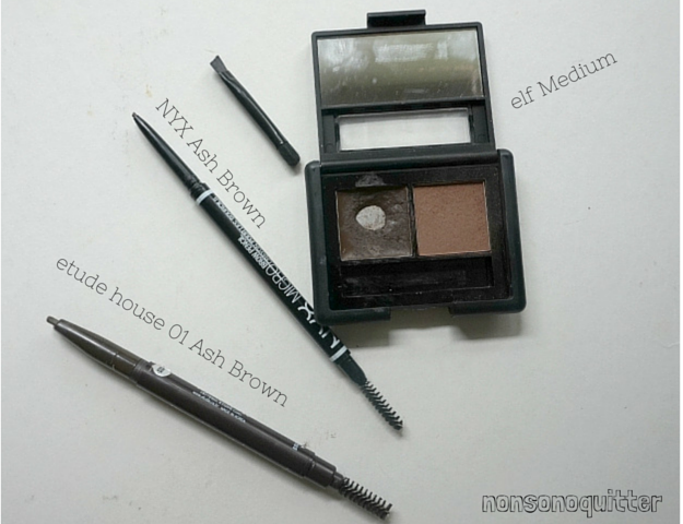 Etude House Mini Brow Class  3rd Class Drawing Guide Etude House Drawing Eye Brow Pencil Review NYX Micro Brow Pencil Elf Brow Kit NYX Micro Brow Pencil Ash Brown Dark Brown Medium Natural Babyface Chic Brow Stencils Anastasia Beverly Hills ABH, Brow options for incredibly sparse brows, sparse brows, no brows, no eyebrows, how to use brow stencils Review Swatches