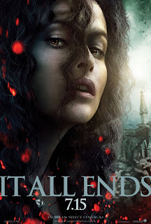 "Harry Potter and the Deathly Hallows: Part 2 ""It All Ends"" Portrait Movie Poster Set - Helena Bonham Carter as Bellatrix Lestrange"