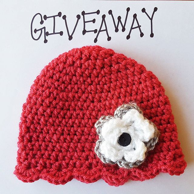 Want to win this crocheted infant flower hat? Enter on Instagram for your chance to win! The winner will be announced on Friday.