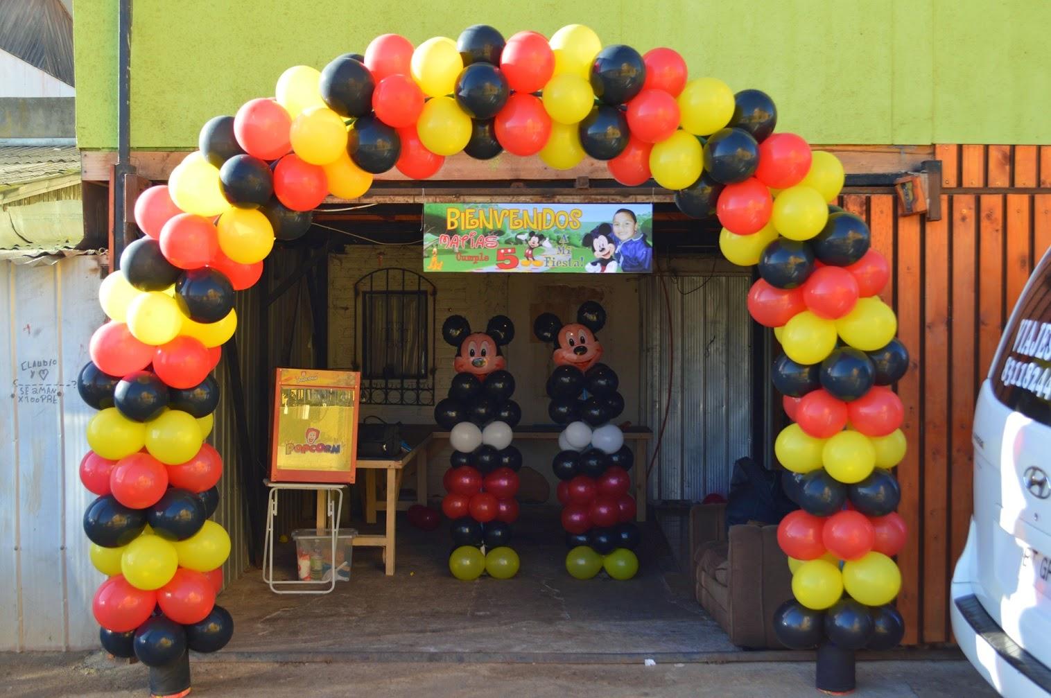 Decoracion con globos de mickey mouse ambientacion con for Decoracion con globos
