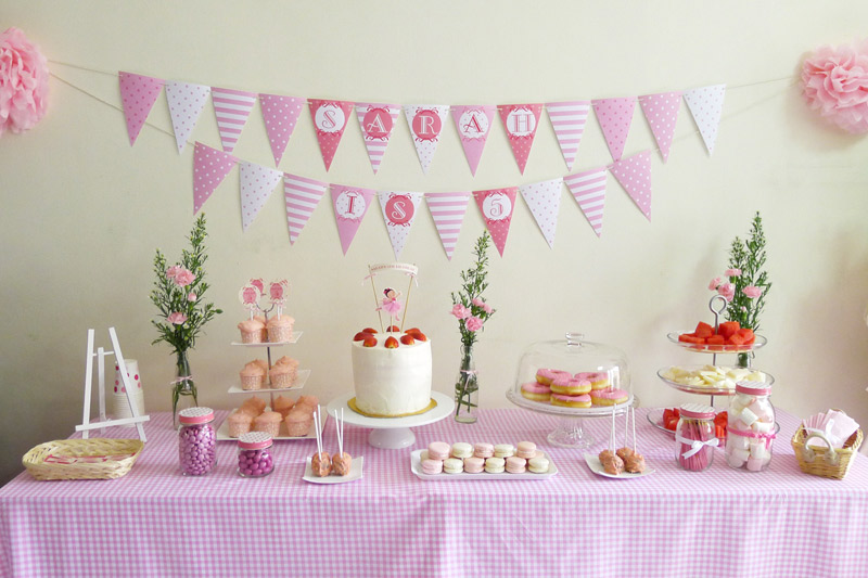 Ballerina birthday party ideas ballerina birthday party for Ballerina decoration
