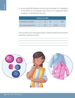 Apoyo Primaria Desafíos matemáticos 5to grado Bloque I lección 17 Botones y camisas