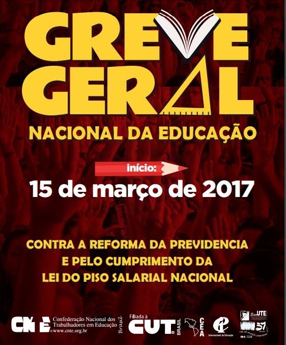 GREVE GERAL NACIONAL DA EDUCAÇÃO.