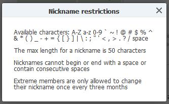 Nickname Camfrog Characters