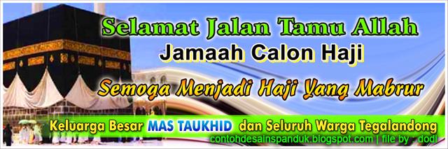 spanduk banner pemberangkatan haji